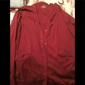 JCrew rust color button down cardigan EUC